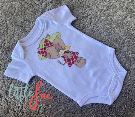 Flower Kitten Baby Bodysuit