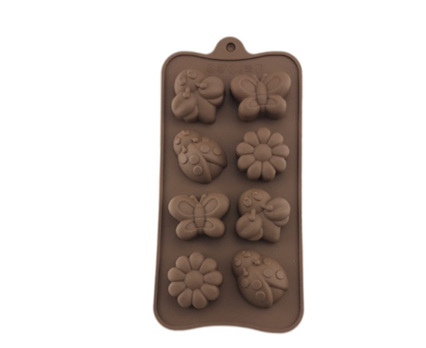 FLOWER, LADYBIRD & BUTTERFLY TRAY SILICONE MOULD