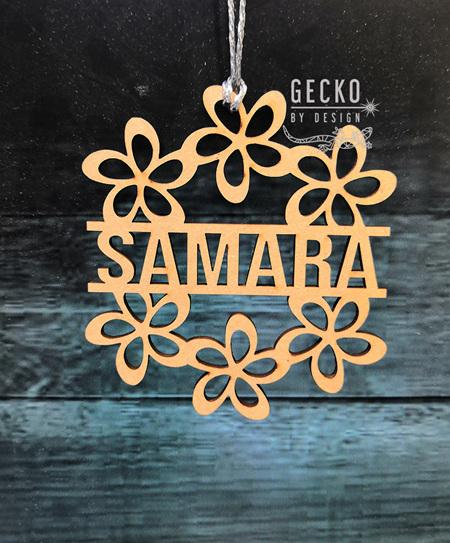 Flower personalised ornament