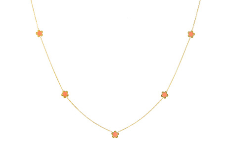 Flower Power: Delicate Yellow Gold Necklace