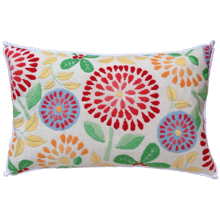 flower power needlepoint kit nz design