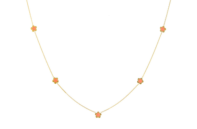 Flower Power Delicate Yellow Gold Flower Detail Necklace