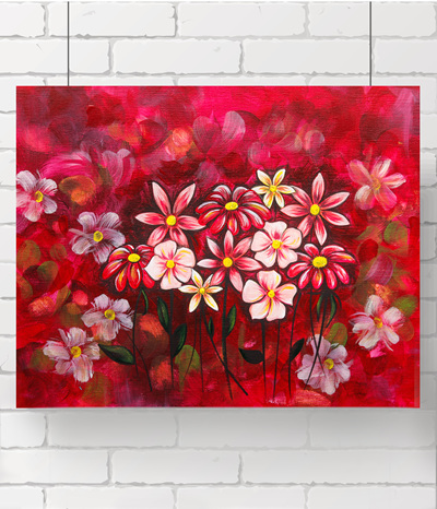 flowers for me - the original painting
