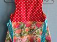 Flowers & Hearts Pinny Dress - SIZE 4