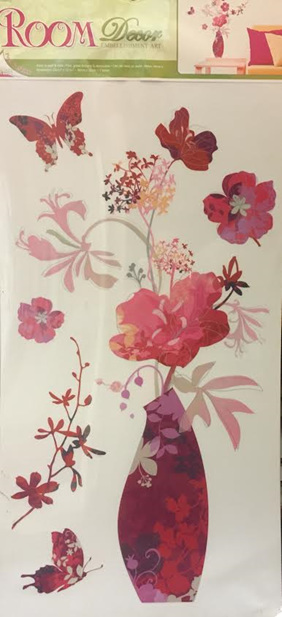 Flowers in Vase Wall Decal