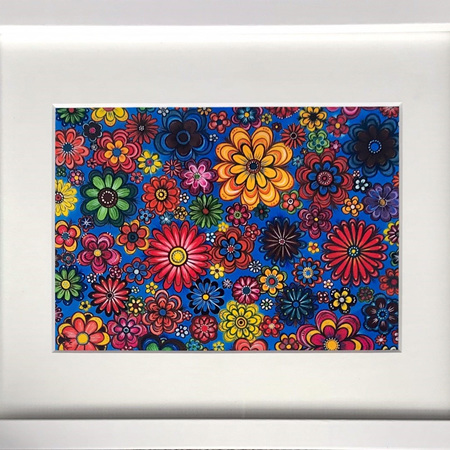 "Flowers Print in 8 x 10"" Frame"