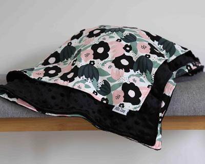 Flowers Blanket - Black
