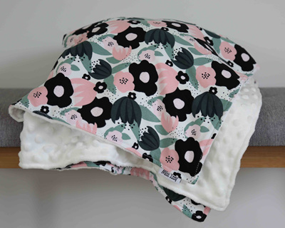 Flowers Blanket - Cream