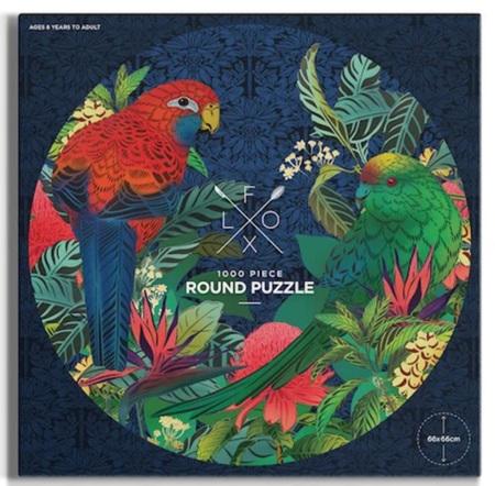 Flox NZ 1000 Piece Round Jigsaw Puzzle: Kikorangi