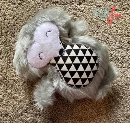Fluffy Grey Hedgehog Soft Toy