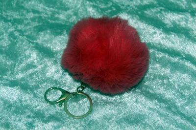Fluffy Keyring (large) - Hot Pink