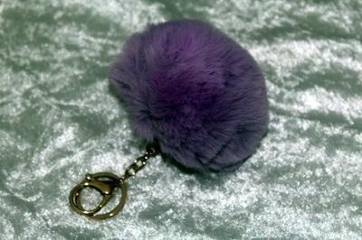 Fluffy Keyring (large) - Purple