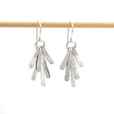 Flutter Drop Earrings in Silver