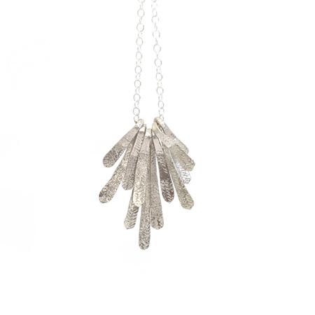 Flutter Necklace in Silver
