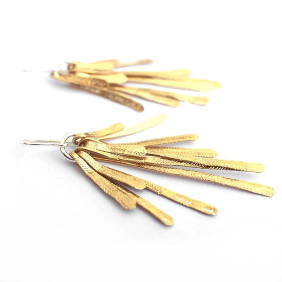 flutter statement earrings gold jewellery sunshine summer sterling silver