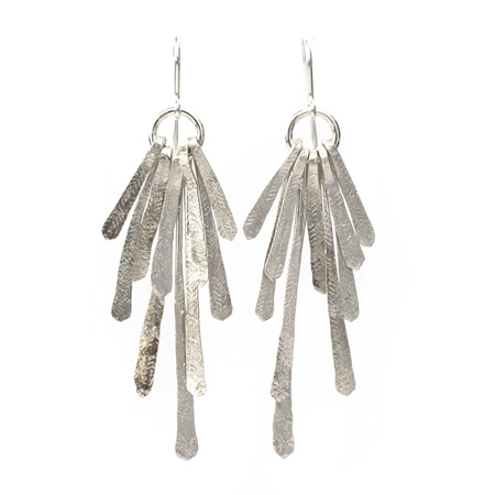 Flutter Statement Earrings in Silver