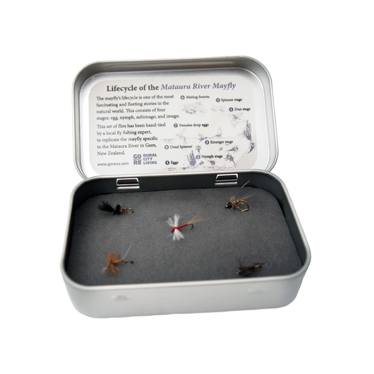 Fly Fishing Tin Open