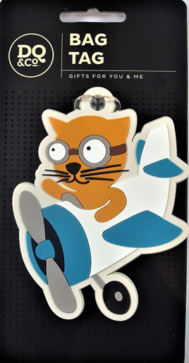 Flying Cat Luggage Tag