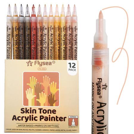Flysea Acrylic Paint Markers - Skin Tone