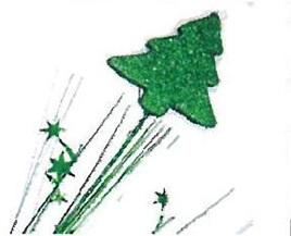 Foam Xmas Tree Spangles