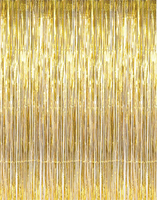Foil Curtain 2 Ply - Gold 91.4cm x 2.43 m