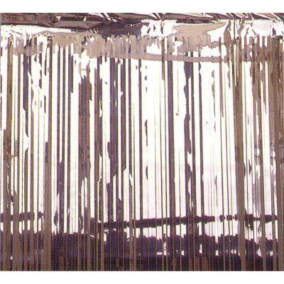 Foil curtain - silver