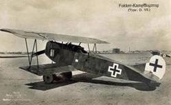 Fokker D-VII 1/5 Scale 70' 90 Size Laser Cut Short Kit