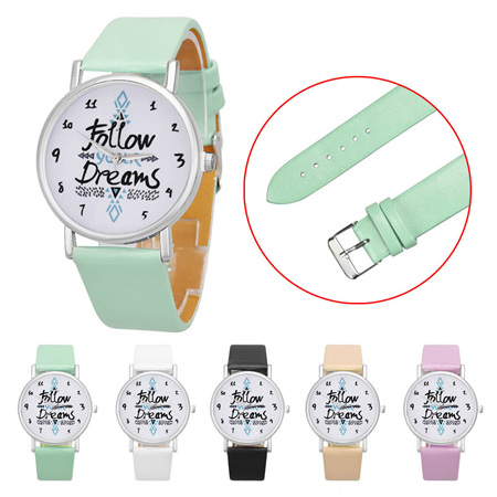 FOLLOW YOUR DREAMS WATCH - (colour options available)