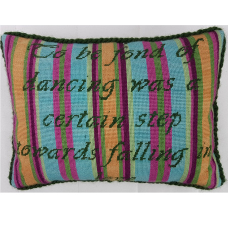 Fond of Dancing Needlepoint Cushion Kit by Mary Self
