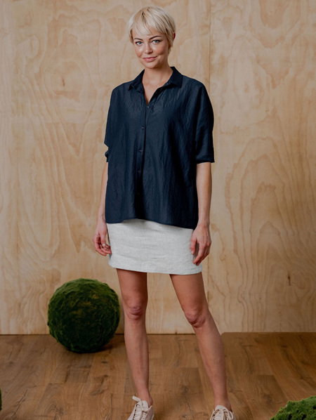 Fontaine Top - Navy