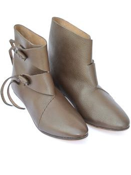 Footwear 1 - Generic  Medieval Ankle Boots with Toggles