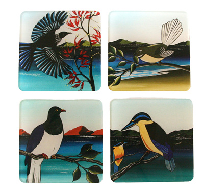 New Zealand Birds Coasters NZ03