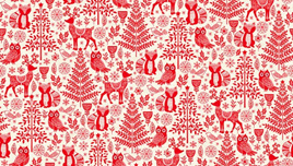 Forest Animals Red 2125/R