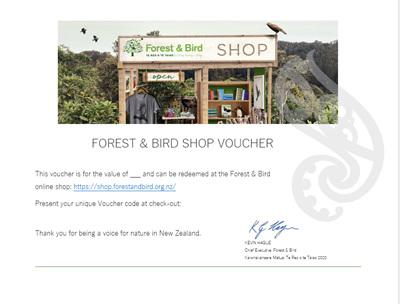 Forest & Bird Shop Voucher