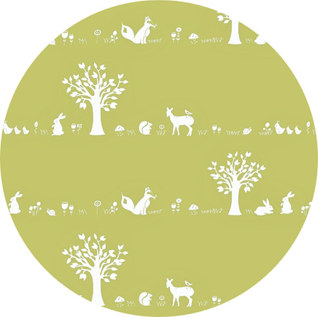 """Forest Friends"" GOTS Certified Organic Cotton Knit, 210gsm"