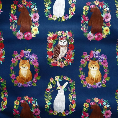 Forest Friends - Wreaths on Navy