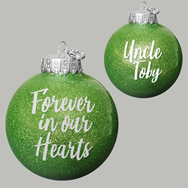 Forever in Our Hearts Personalised christmas Ornament