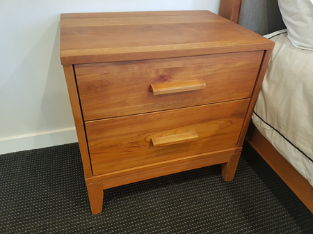 Foreverbeech™ Bedside Cabinet 2 Drawer