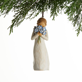 Forget-me-not Willow Tree , hanging ornament