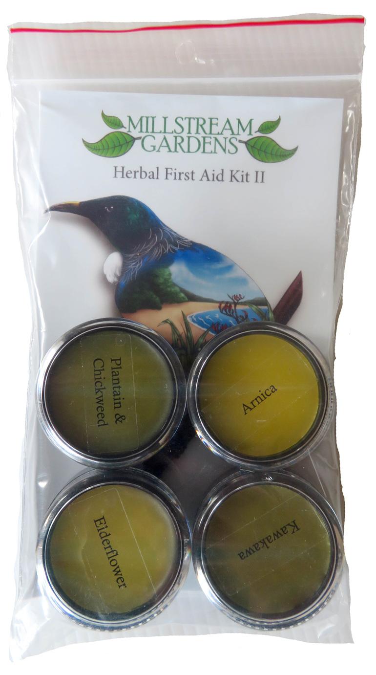 Four healing herbal balms