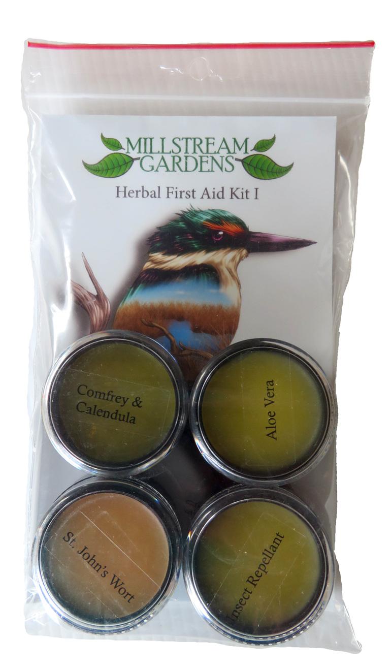 Four herbal balms