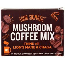 Four Sigmatic Mushroom Coffee Mix Think With Lion's Mane & Chaga 10 Packets