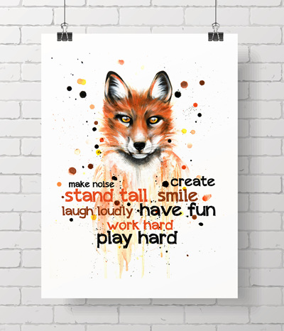 Fox and quote