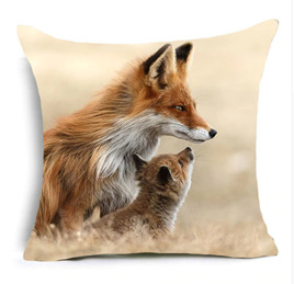 Fox Family Cushion Cover