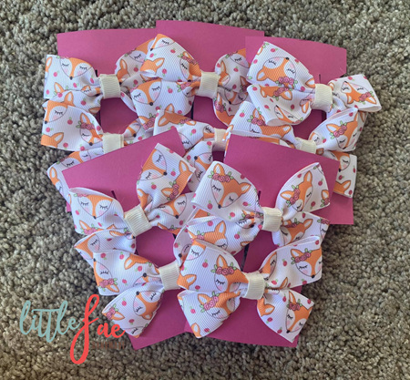 Fox Hair Bows
