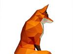 Fox origami art model