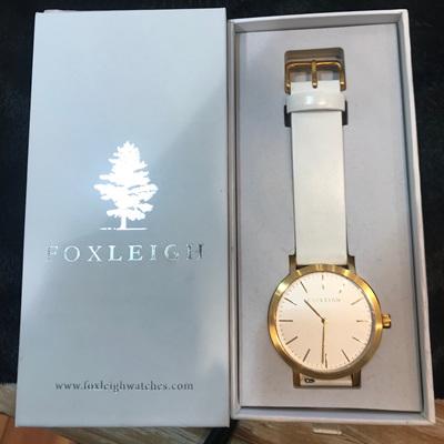 FOXLEIGH Gold & White Timepiece