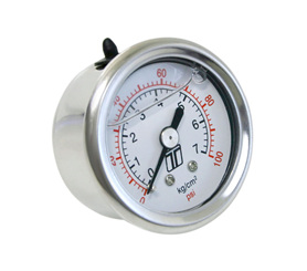 FPR GAUGE 0-100PSI - LIQUID FILLED  TS-0402-2023