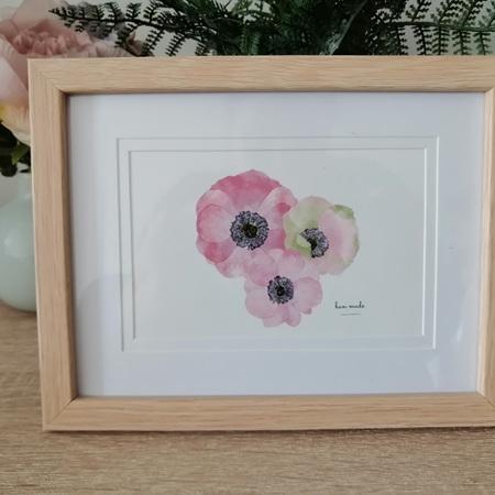 Framed Poppies Print
