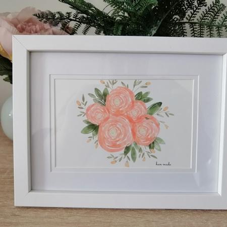 Framed Roses Print